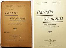 SATIRE/PARADIS RECONQUIS/POEME HUMORISTIQUE/1928/EO/J.P.RICANE/DANTE