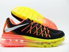 NIKE AIR MAX 2015 (GS) RUNNING BLACK/WHITE-VOLT SIZE 6Y/WOMEN'S 7.5 [705457-003]
