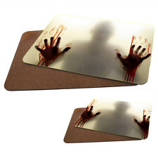 Zombie Shadow MDF Hard Backed Placemat & Coaster Set