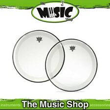 """New Remo 24"""" Powerstroke 4 Clear Bass Drum Skin with Falam Patch - P4-1324-C2"""