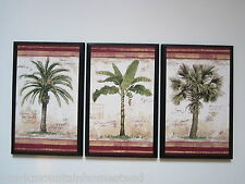 Palm Trees 3 Tropical Spa Bathroom wall decor plaques signs palms bath sunroom