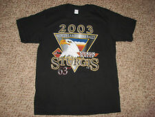 New No Tags Mns Sz S Black Short Sleeve Sturgis 2003 T Shirt Made In USA