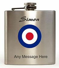 personalised MOD Hip Flask Design With Any Message and Name printed