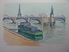 29 / AQUARELLE PARIS / Le pont de Grenelle
