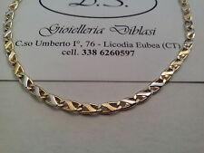 COLLANA  IN ORO GIALLO E BIANCO (oro 18 kt titolo 750%) necklace gold grams 6,4