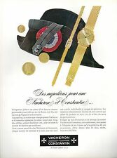 ▬► PUBLICITE ADVERTISING AD MONTRE WATCH VACHERON ET CONSTANTIN