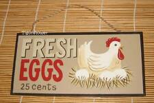 Wood Sign Plaque Decor Country Rustic FRESH EGGS