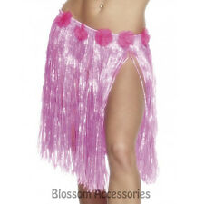 A450 Hawaiian Pink Hula Skirt Luau Beach Tropical Costume Accessory