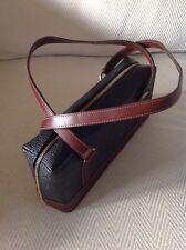 Mulberry Scotchgrain & Leather Bag Black & Cognac