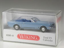 TOP: Wiking Serienmodell Ford Mustang T5 Cabrio hellblau in OVP