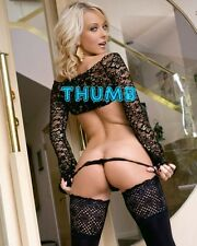 Jana Cova, 10x8 inch Photograph #011 in Lace Top Black Stockings & Thong