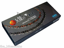 KMC X10SL DLC Diamond RED BLACK 10 Speed Bike Chain fit SRAM Campagnolo Shimano