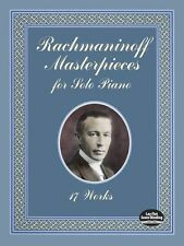 Serge Rachmaninoff Masterpieces For Solo Piano Works Play Classical Music Book