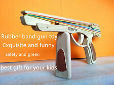 New Fashion Toy Design Wood Rubber Band Toy Gun New Christmas Gifts For Kids