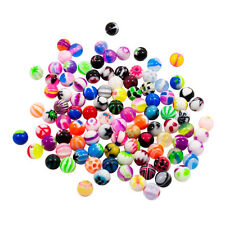 Wholesale LOT 100 14g 5mm Acrylic Balls Piercing Bead For Body Jewelry