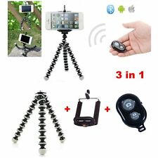 Mini Adjustable Octopus Tripod holder w/ Bluetooth Remote Control Shutter