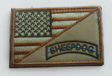 USA UNITED STATES AMERICAN FLAG SHEEPDOG  BADGE ARMY MORLAE   PATCH sh  529