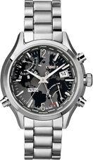 Timex reloj hombre world time t2n944 IQ-serie (banda de acero inoxidable)