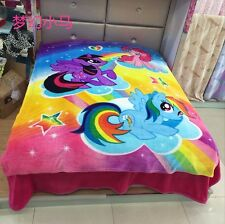 My Little Pony Unicorn Bedding Soft Warm Throw Blanket Flannel Plush 150*200CM