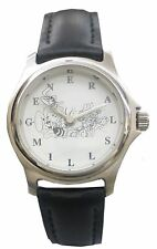 Trix Bunny Watch With Silver Color Case, White Dial & Blk Geniuine Leather Band