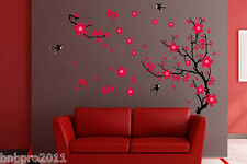 60*90cm Red Plum Blossom Flower Wall Sticker Bedroom Home Art Decor Adhesive New