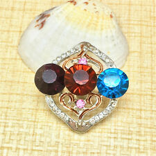 NEW Fashion Mix Rhinestone Charm Chunk Snap Button fit for Noosa Bracelet KOC82