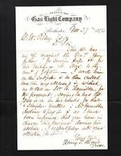 Rochester NY Gas & Light Letterhead 1874 & 2c Brown Jackson Banknote Cover Z47