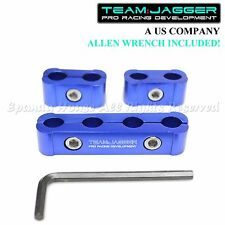 FOR CHEVY ONLY! JDM ANODIZED ALUMINUM SPARK PLUG WIRE SEPARATORS HOLDERS BLUE