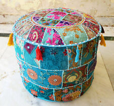 Indian Floor Pouf Ottoman Cover pouffe pouffes Foot Stool Moroccan Pillow !