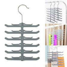 Popular Fishbone Necktie Tie Belt Hanger Rack Shawl Scarf Clip Holder Organizer