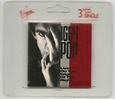 "IGGY POP LIVIN ON THE EDGE OF NIGHT & THE PASSENGER 4 TRACK 3"" CD SINGLE NEW"