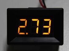 3 GIALLO display digitale a LED TENSIONE VOLT VOLTMETRO AUTO DC Chip 2.4-30v 200
