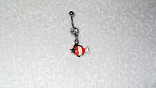 Orange Fishy Fish Charm Belly Button Navel Ring Body Jewelry Sexy Dancer