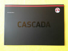 Vauxhall Cascada Cabriolet official dealer marketing brochure June 2014 MINT