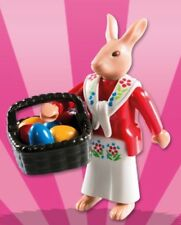 Playmobil 5597 Series 8  -  Easter Bunny, basket, and easter eggs. NEW