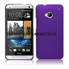 Purple Premium Rubberised Hard Back Cover,Case,Pouch for HTC ONE M7