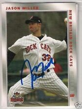 Minnesota Twins JASON MILLER autographed 2008 New Britain Rock Cats