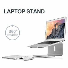 Ergonomic Laptop/MacBook(11-17 inch) Aluminium alloy stand/mount-  bottom swivel