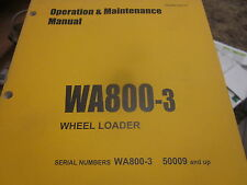 Komatsu WA800-3 Wheel Loader Operation & Maintenance Manual s/n 50009 & Up