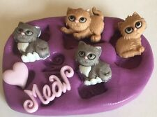 Cats/kitten Silicone Mould ( Topper. disney.cupcake.mold.topper.cute