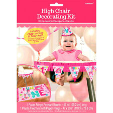 Girl 1st Birthday Party Supplies Decorations ONE WILD Girl High Chair Decoration