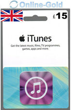 15 GBP iTunes Gift Card - £15 Pound Apple Store Code iPhone iPad Mac Key New UK