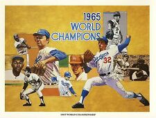 "1984 UNION OIL DODGERS ""1965 WORLD CHAMPIONSHIP"" PRINT DRYSDALE KOUFAX  LOT OF 6"