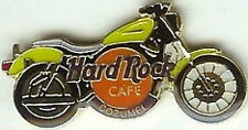 Hard Rock Cafe COZUMEL 1998 Lime Green MOTORCYCLE PIN - HRC Catalog #2102