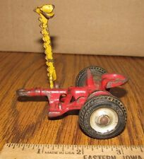 Arcade Balloon Cast Iron Mower Farm Toy Implement Tractor Red/Yellow  Bar Moves