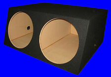 "2 HOLE 15"" EXTRA DEEP BLACK SUBWOOFER SUB SPEAKER ENCLOSURE BOX"