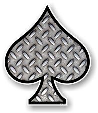 ACE OF SPADES With Metal Chequer Plate sheet vinyl Car Helmet Bike sticker decal
