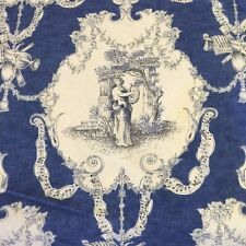 Les trois muses french toile cotton music motif print xwide fabric by the yard