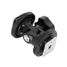 Dual Hot Shoe Adjustable Mount Adapter Bracket Holder Fr Video Light Camera