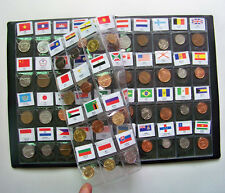 60 countries Regions of the world Currency coins collection books with flags